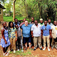 Carl Everitt, Chair Camosun Hospitality Management, and Graham Knipfel, Manager, Camosun Global Consulting and Partnerships, meeting with local tourism guides in Kenya, December 2017.