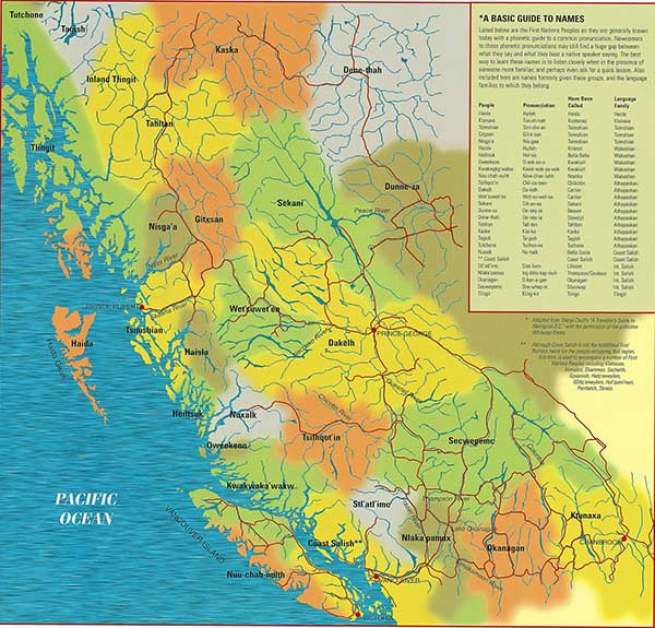 Territory map of BC