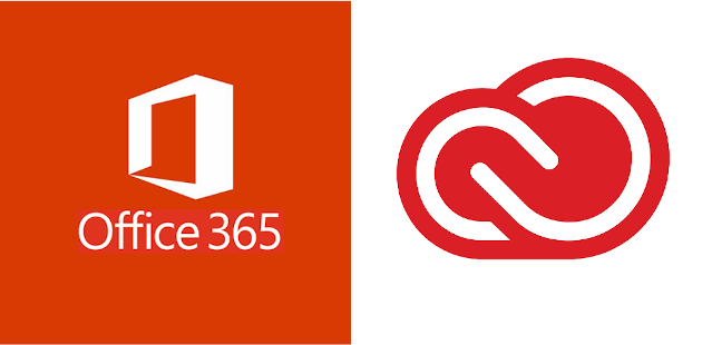 Office 365 and Adobe Creative Cloud logos